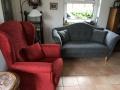 Sofa und Sessel  neu bezogen