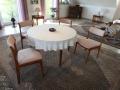 Westensee, Wohnzmmer Stühle elegant bezogen