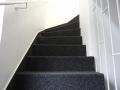 Flintbek, Treppe mit Nadelvlies