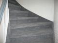 Neumünster, Treppe mit Teppichboden, verlegt in NMS