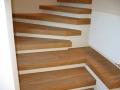 Kiel, Industrieparkett auf den Treppensstufen, verlegt in Düsternbrook